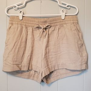 Old Navy | Khaki Linen Shorts